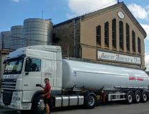 Transport amb cisterna alimentaria